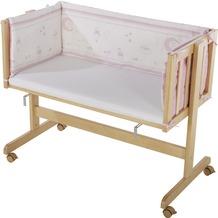 Roba Beistellbett 'Glücksengel rosa', Holz natur