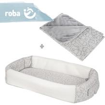 """Roba Bundle """"Miffy"""" enthält 2-seitig genähte Jerseydecke & Babylounge mit süßen Miffy-Häschen Dekor"""