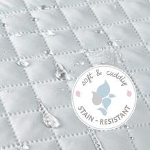Roba Bundle 'roba Style' inkl. Laufgitter 4eckig weiß und blauer Mikrofaser-Bettschlange, geprüft