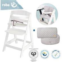 Roba Bundle roba Style mitwachsender, weißer Treppenhochstuhl und Sitzverkleinerer