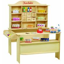 Roba Großer Kaufladen, inkl. Zubehör, natur, 6 Schubladen, Theke & Seitentheke