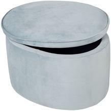 Roba Kinderhocker oval mit Aufbewahrungsfunktion blau