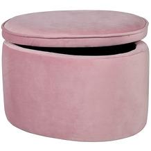 Roba Kinderhocker oval mit Aufbewahrungsfunktion rosa