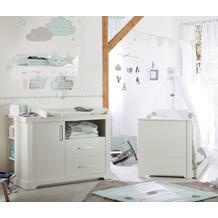 Roba Kindermöbelset 'Maxi', 2-tlg inkl. Kombi-Bett, 70 x 140 cm und breiter Wickelkommode, weiß