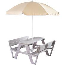 Roba Kindersitzgruppe 'PICKNICK for 4' Outdoor +, mit Lehne, mit Schirm Set