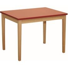 Roba Kindertisch rot lackiert, H 50 cm