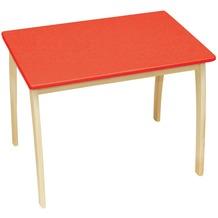 Roba Kindertisch rot lackiert, H 56 cm