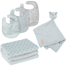 Roba organic Geschenkset Baby Essentials 'Lil Planet' hellblau/sky, Bio-Baumwolle, GOTS, nachhaltig