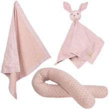 Roba organic Geschenkset 'Lil Planet' rosa/mauve, Bio-Bettschlange, -Decke & -Schmusetuch, GOTS