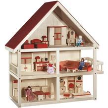 Roba Puppenhaus,25 Einrichtungsteile,4Puppen