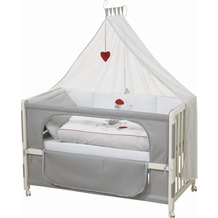 "Roba Room Bed ""Adam & Eule"", weiß lackiert"