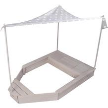 Roba Sandkasten-Schiff, Kinder-Outdoor-Sandkasten aus wetterfestem Massivholz, inkl. Sonnendach
