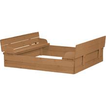 Roba Sandkasten aufklappbar zu 2 Bänken, Massivholz, wetterfest, teakholzfarben, 21,5x127x123,5cm