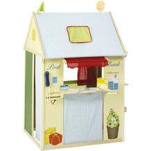 Roba Spielhaus-Kombination, enthält Kaufladen, Kasperletheater, Tafel, Schalter für Post/Bank/Kiosk