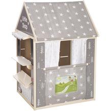Roba roba Spielhaus-Kombi, enthält Kaufladen, Kasperletheater, Tafel, Schalter für Post/Bank/Kiosk, grau