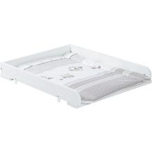Roba Wickelplatte für Waschmaschine, inkl. Wickelauflage, Folie Eulenbabys grau