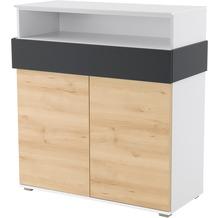 Röhr Regal Sideboard 102x110x46 cm Buche Applikation Anthrazit