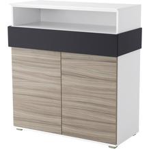 Röhr Regal Sideboard 102x110x46 cm Driftwood Applikation Anthrazit