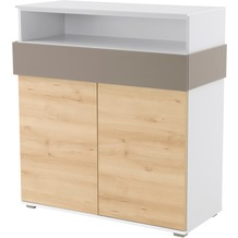 Röhr Regal Sideboard 102x110x46 cm Buche Applikation Cubanit
