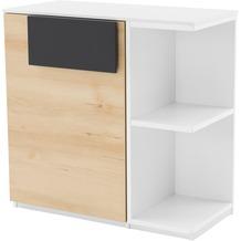 Röhr Schrank mit Regal Buche/Weiß 76x74x37 cm Tür links Applikation Anthrazit