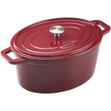 RÖSLE Bräter oval Grand Cuisine 31 x 23 cm, darkred