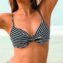 Rosa Faia Paulina Bikini Oberteil schwarz-weiß 36A