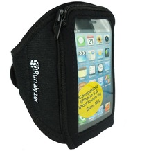 Runware Runalyzer Sport Armband, Gr. M/L, iPhone 5/5S/SE & touch 5, Schwarz