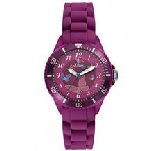 s.Oliver Armbanduhr MIT GRAVUR (z.B. Namen) SO-2595-PQ pink Damenuhr oder Mädchenuhr mit Silikonarmband