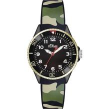 s.Oliver Armbanduhr SO-2998-PQ in Tarnfarben Camouflage grün/schwarz/beige