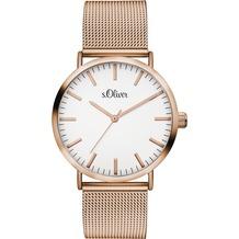 s.Oliver Damenuhr SO-3146-MQ für Frauen Uhr Damen Armbanduhr Farbe: roségold
