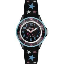 s.Oliver Armbanduhr SO-3178-PQ Uhr mit Sternchen für Mädchen Mädchenuhr