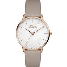 s.Oliver Damen-Armbanduhr SO-3441-LQ Taupe für Frauen