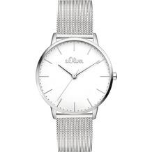 s.Oliver Damen-Armbanduhr SO-3444-MQ Silber für Frauen