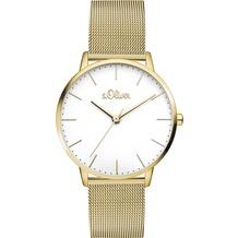 s.Oliver Damen-Armbanduhr SO-3445-MQ für Frauen Farbe: Gold