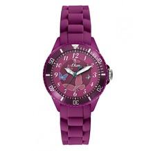 s.Oliver Armbanduhr SO-2595-PQ pink Damenuhr oder Mädchenuhr mit Silikonarmband
