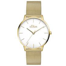 s.Oliver Damen-Armbanduhr MIT GRAVUR (z.B. Namen) SO-3445-MQ für Frauen Farbe: Gold