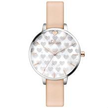s.Oliver Damen-Armbanduhr MIT GRAVUR (z.B. Namen) SO-3474-LQ Rosa Armband für Frauen mit Herzchen