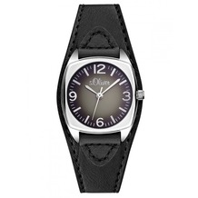 s.Oliver Damen-Armbanduhr SO-2836-LQ schwarz