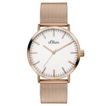s.Oliver Damenuhr MIT GRAVUR (z.B. Namen) SO-3146-MQ für Frauen Uhr Damen Armbanduhr Farbe: roségold