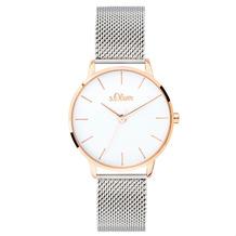 s.Oliver Damenuhr MIT GRAVUR (z.B. Namen) SO-3701-MQ Damen Armbanduhr, Farbe: bicolor
