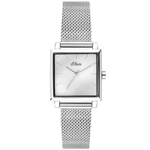 s.Oliver Damenuhr MIT GRAVUR (z.B. Namen) SO-3710-MQ Damen Armbanduhr, Farbe: silber