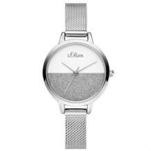 s.Oliver Damenuhr MIT GRAVUR (z.B. Namen) SO-3745-MQ Damen Armbanduhr Farbe: silber