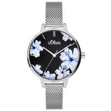 s.Oliver Damenuhr MIT GRAVUR (z.B. Namen) SO-3777-MQ Damen Armbanduhr Farbe: silber