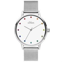 s.Oliver Damenuhr MIT GRAVUR (z.B. Namen) SO-3780-MQ Damen Armbanduhr Farbe: silber
