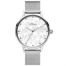 s.Oliver Damenuhr MIT GRAVUR (z.B. Namen) SO-3788-MQ Damen Armbanduhr Farbe: silber