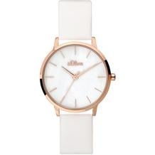 s.Oliver Damenuhr SO-3703-LQ Damen Armbanduhr weiß