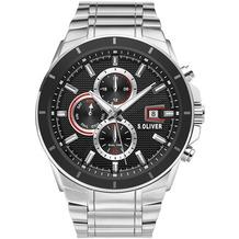 s.Oliver Herrenuhr SO-3757-MM Herren Armbanduhr Farbe: silber