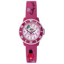 s.Oliver Kinderuhr MIT GRAVUR (z.B. Namen) SO-3726-PQ Kinder Armbanduhr pink