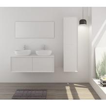 SalesFever Badezimmer Set 120 cm, 3 tlg. Holzwerkstoff (MDF) Weiß 391723