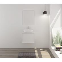 SalesFever Badezimmer Set 60 cm, 2 tlg. Holzwerkstoff (MDF) Weiß 391624